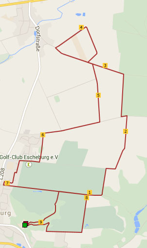 9,2km-Strecke